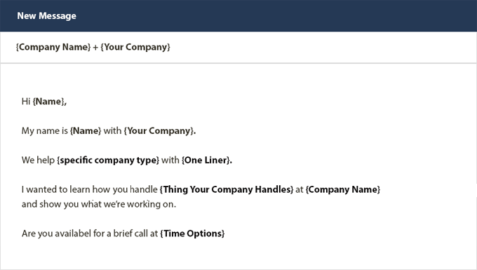 Sales Email Template 1